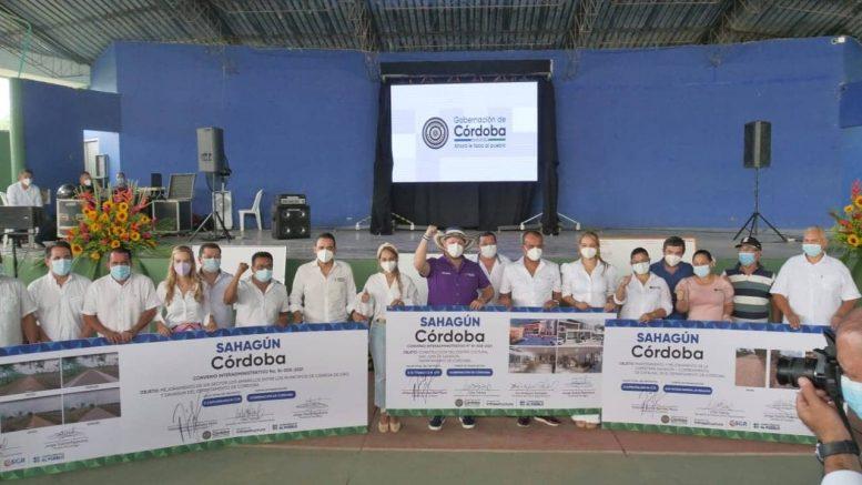 Gobernación de Córdoba y Alcaldía de Sahagún firmaron convenio de inversión para obras - Noticias de Colombia